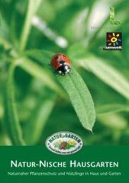 Broschüre «Natur-Nische Hausgarten