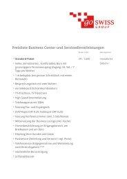 Preisliste - go swiss Group AG