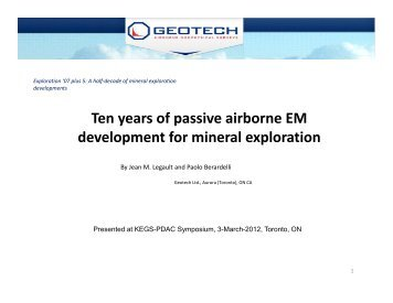 Ten years of passive airborne EM development for mineral exploration