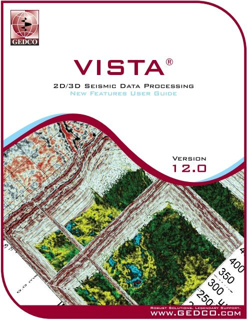 Vista Software Overview Version 12 New Features Gedco