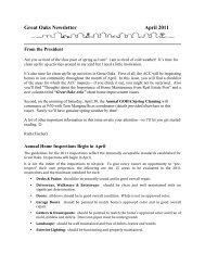 Monthly Newsletter - April 2011 - Goha.us