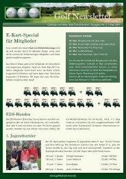 Newsletter Mai 2013 - Golfclub am Meer