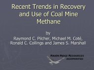 Recent Trends in Recovery and Use of Coal Mine Methane