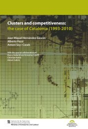 Clusters and competitiveness : the case of Catalonia - Generalitat de ...