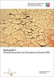 GeoLog 2011 - Geologischer Dienst NRW - Landesregierung ...