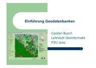 Einführung Geodatenbanken