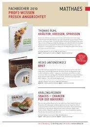 KRÄUTER, KRESSEN, SPROSSEN - Matthaes Verlag GmbH