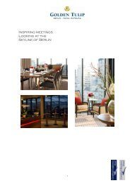 download meeting and event portfolio - the Golden Tulip Berlin ...