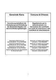 Gemeinde Kiens Comune di Chienes Verordnung betreffend die ...