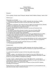 Runion Projet GDR-Ecoles - CNRS