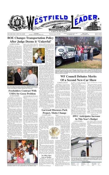 10jan28 newspaper - The Westfield Leader