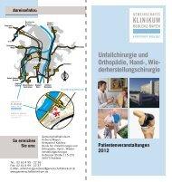 Patientenveranstaltungen 2012 der Klinik für Unfallchirurgie und ...