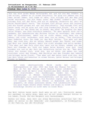 15.02 Lukas 8, 4-15 Sexagesimae (PDF) Pfr