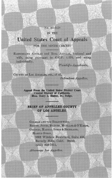 Aguilar v. Los Angeles County Appellee's Brief - Greines, Martin ...