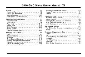 GMC 2007 Sierra 1500 Pickup Owner s Manual