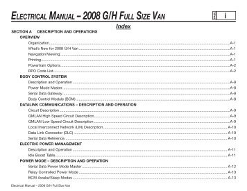 Electrical gm upfitter electrical manual 2008 gh full size van gm upfitter sciox Choice Image