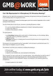 Can I Be Represented In A Disciplinary Or Grievance Hearing ... - GMB