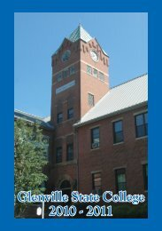 GSC Catalog 2010-2011 - Glenville State College