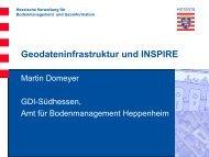 Geodateninfrastruktur und INSPIRE - GDI-Südhessen