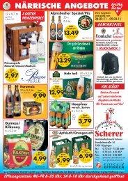 NÄRRISCHE ANGEBOTE - Getränkefachmarkt Scherer