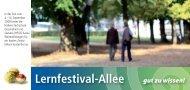 Lernfestival-Allee Programm - Gesunde Schulen