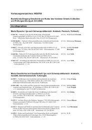 Vorlesungsverzeichnis: WS0708 - Fachbereich Geschichts