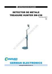 detector de metale treasure hunter sw-238 - German Electronics