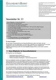 Newsletter Nr. 31 - Gesundheitsbeirat-muenchen.de