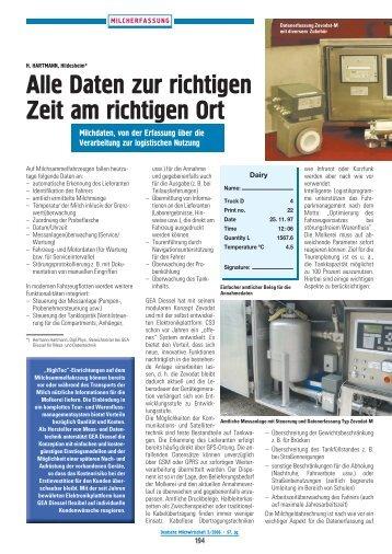 Alle Daten zur richtigen Zeit am richtigen Ort - GEA Diessel GmbH