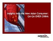 Insights into the New Asian Consumer: GA-GA OVER CHINA GA ...