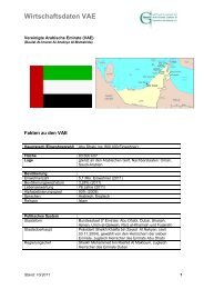 Vereinigte Arabische Emirate (VAE) - Ghorfa
