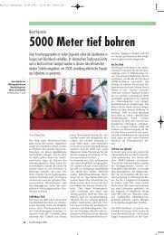 5000 Meter tief bohren - Was ist Geothermie
