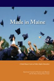 Made in Maine - The American Council of Trustees and Alumni