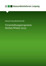 Veranstaltungsprogramm Herbst/Winter 2013 - Gesundheitsforen ...
