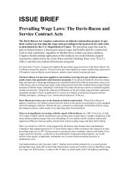 ISSUE BRIEF Prevailing Wage Laws - IAM