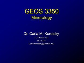 GEOS 200 - Evolution, A Geological Perspective