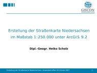 Erstellung der Straßenkarte Niedersachsen im ... - AG GIS-Küste