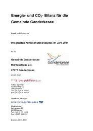 Energie- und CO2- Bilanz für die Gemeinde Ganderkesee