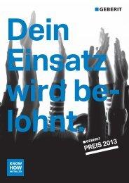 PREIS 2013 - Geberit