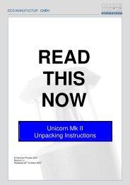 Unicorn Mk II Unpacking Instructions - German Physiks