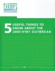 Info Sheet_5 Useful Things to Know about the 2009 H1N1 Outbreak