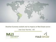 Brazilian Economy outlook and its impacts on Real Estate sector