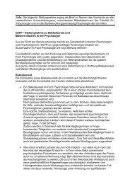 Info: Die folgende Stellungnahme erging als Brief im Namen ... - GkPP