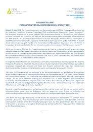 pressmitteilung produktion von glasverpackungen wächst 2011