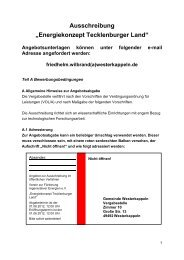 """Ausschreibung """"Energiekonzept Tecklenburger ... - Westerkappeln"""