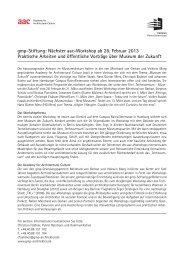 gmp-Stiftung: Nächster aac-Workshop ab 28. Februar 2013 ...
