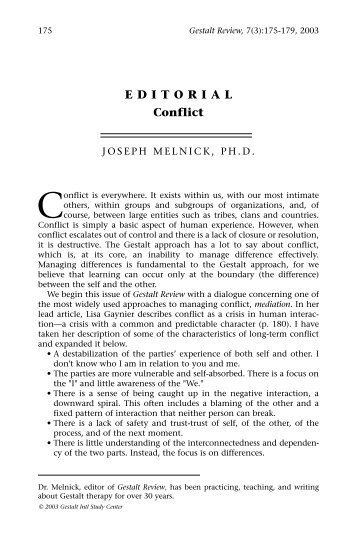gestalt study Launched in 1997, gestalt review is a peer-reviewed journal that provides a worldwide forum for exchanges in theory and practice it concentrates on the gestalt.