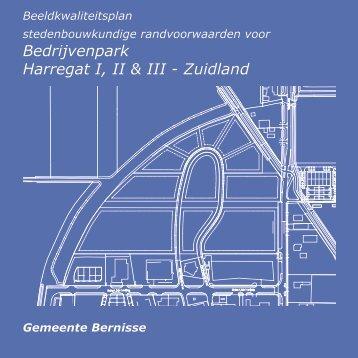 het ontwerp beeldkwaliteitplan Harregat - Gemeente Bernisse