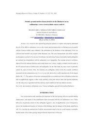 Seismic ground motion characteristics in the Bucharest ... - geo.edu.ro