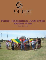 Parks, Recreation, And Trails Master Plan - Town of Gilbert